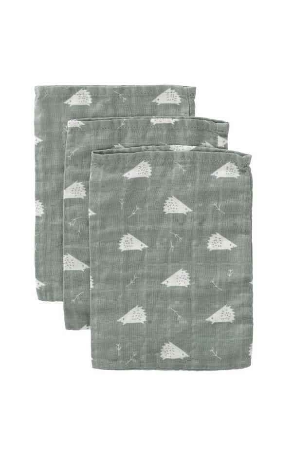 Washcloth set 3P - Hedgehog