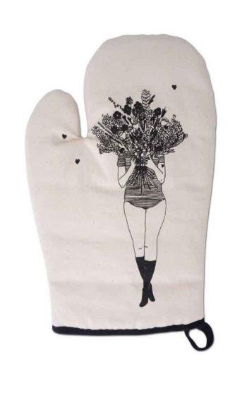 Oven Glove - Flower Girl