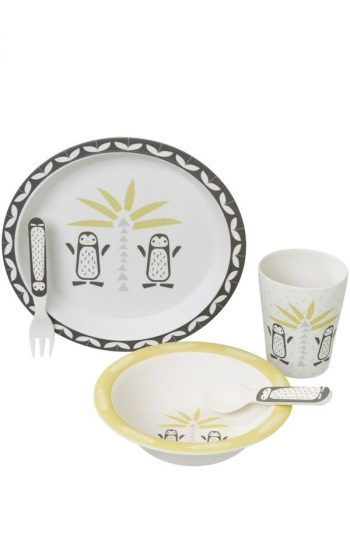 Dinner Set Bamboo - Pinguin