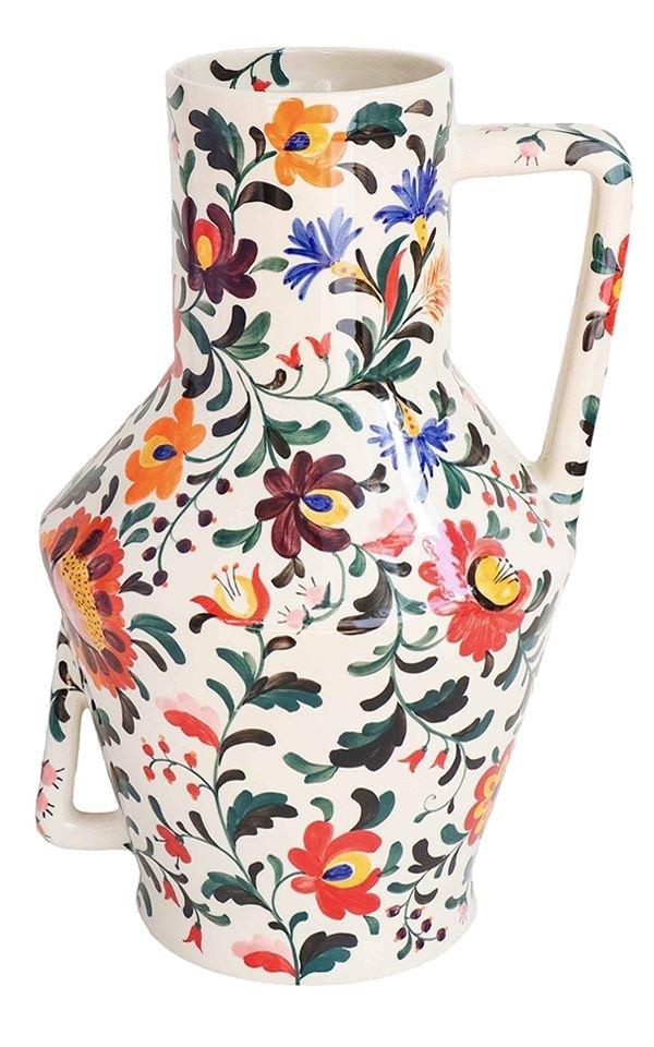 Vase Handpainted Flowers from Het Faire Oosten