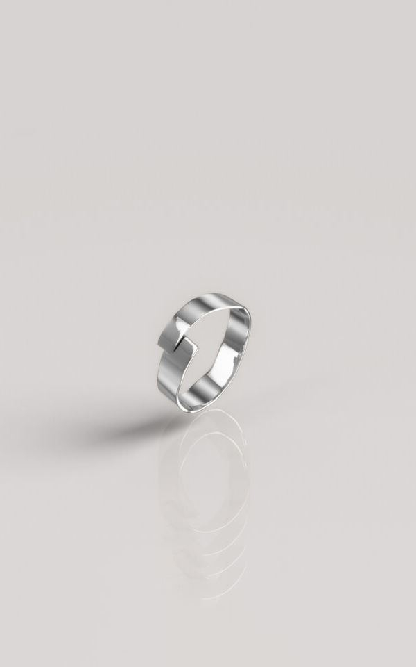 Ring Hammered Silver