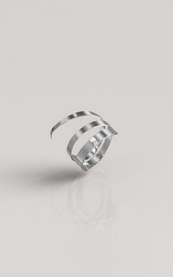 Ring Hammered Triple - Silver