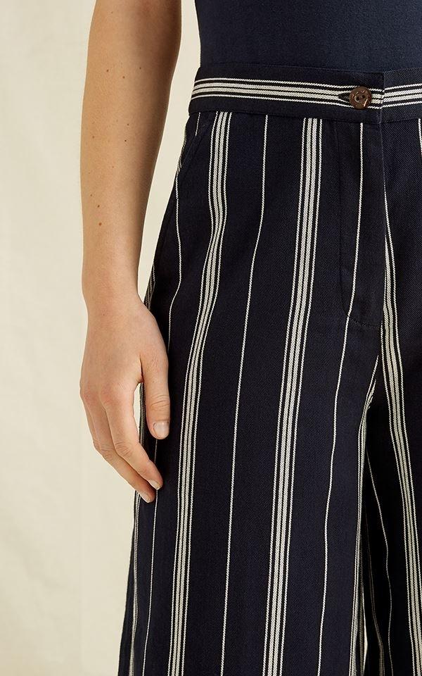 Trousers Shauna Stripe - Black