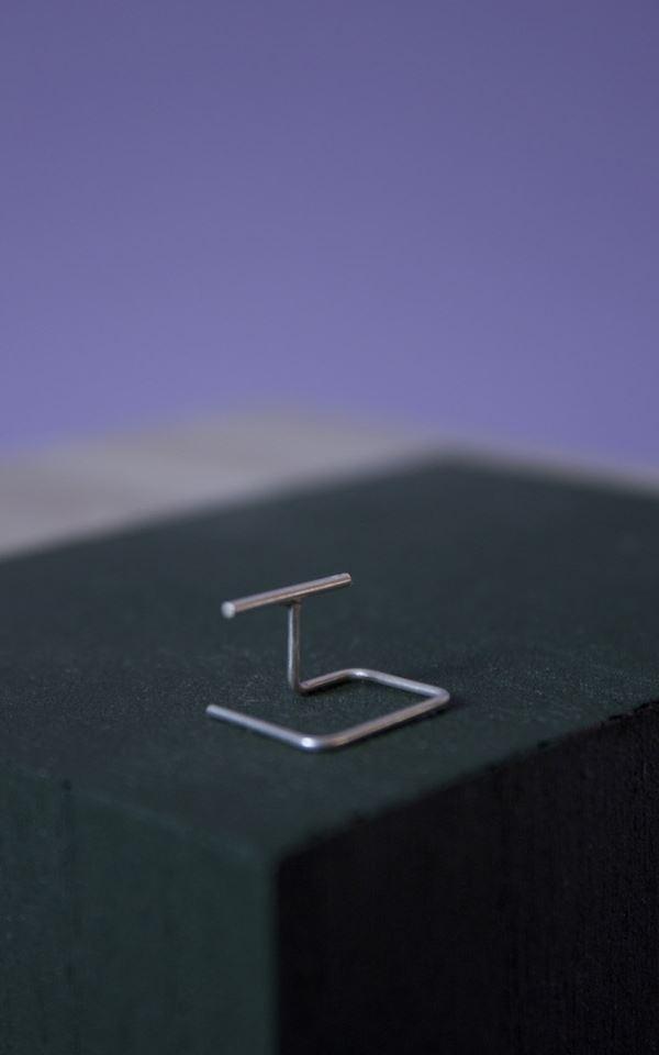 Earring - Cube Left