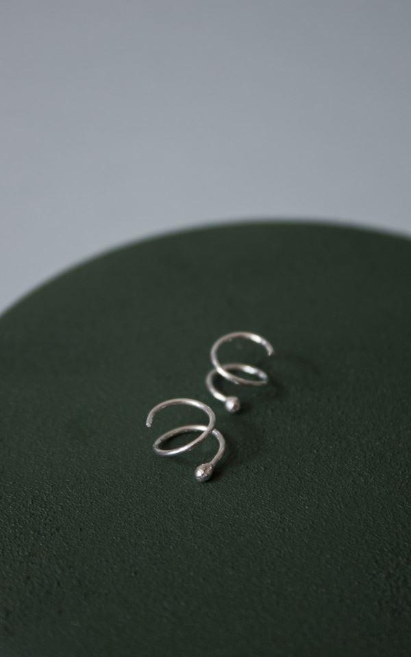 Earring - Swirl Left