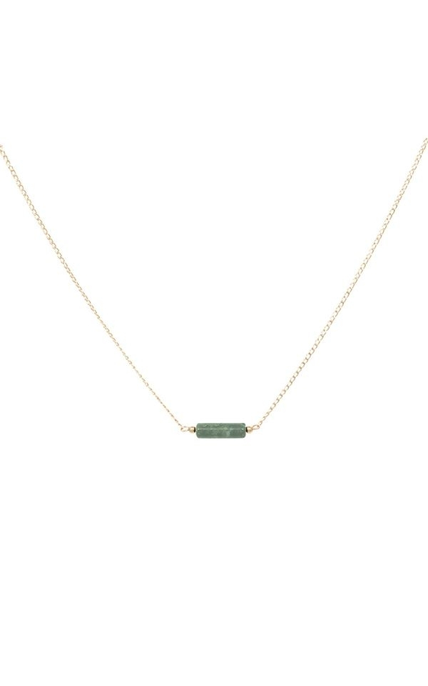 Necklace Tube Jasper Green