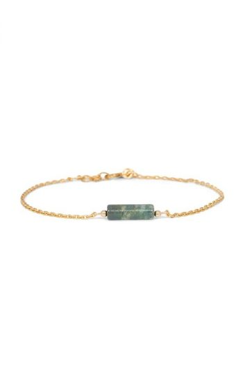 Bracelet Tube Jasper Green