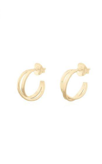 Earrings Crossed Hoops