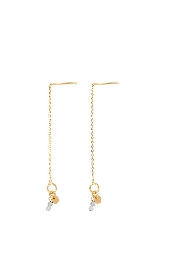 Earrings Thin Line - Labradoriet