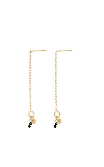 Earrings Thin Line - Black