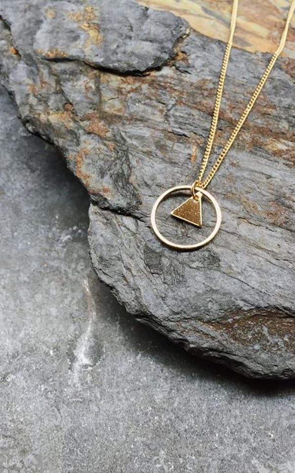 Necklace Circle Triangle