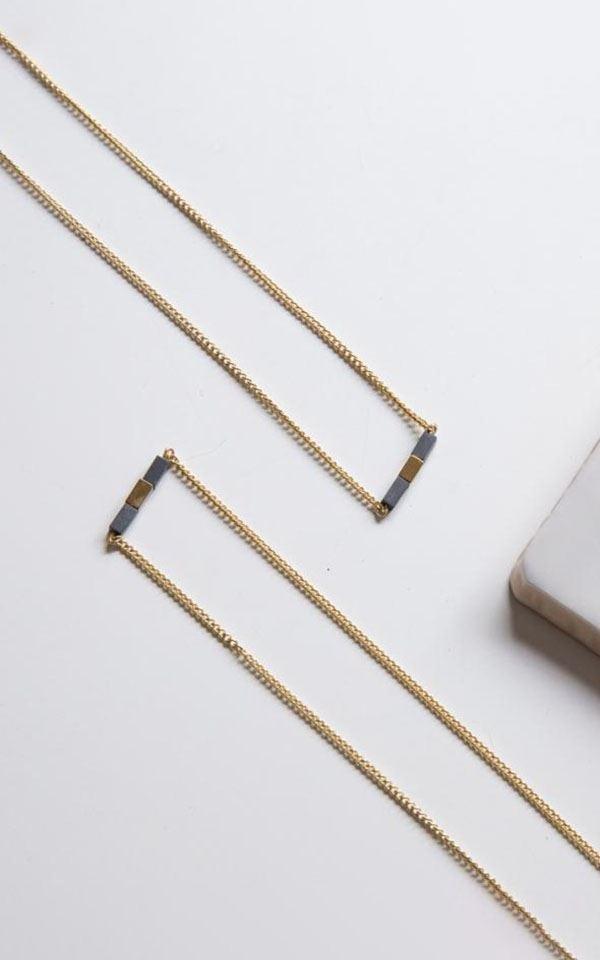 Necklace Hematite Cube