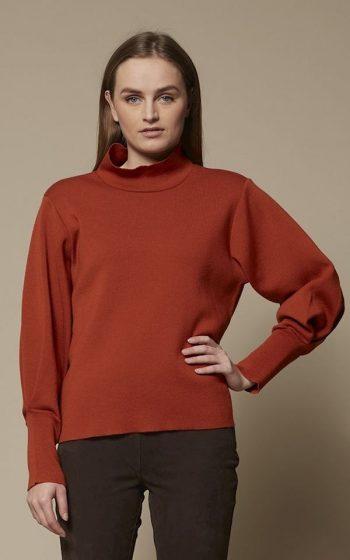 Sweater Puff Sleeve