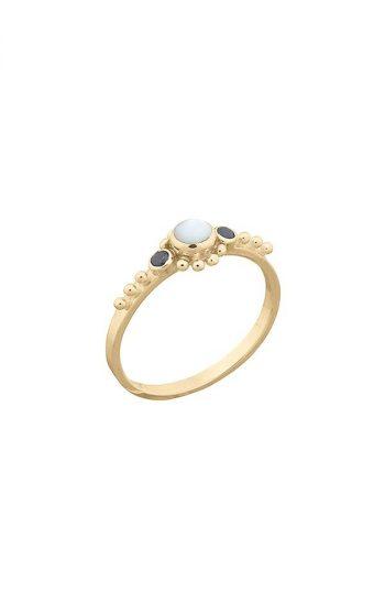 Ring Black & Pearl
