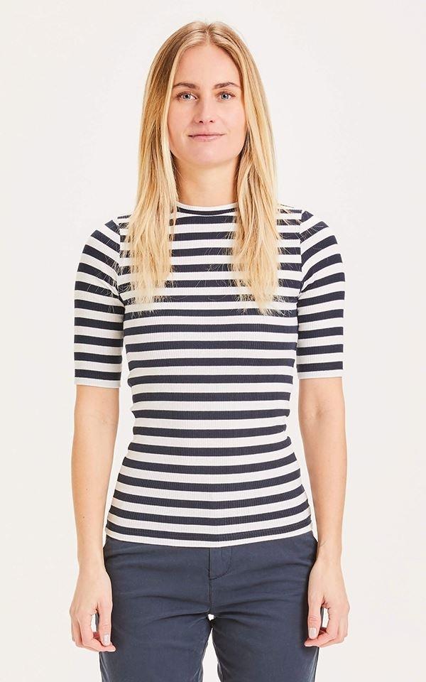 T-Shirt Canna Rib Striped