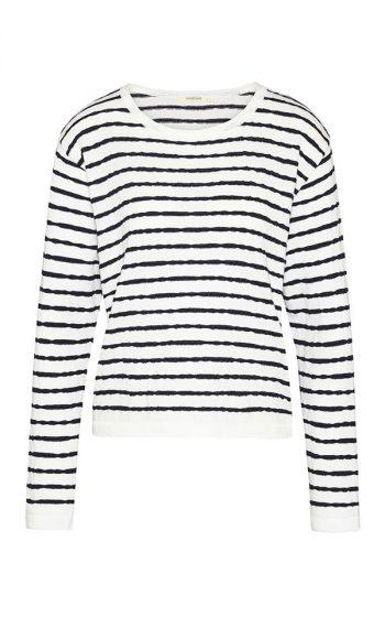 Knit Crew Slub Stripes