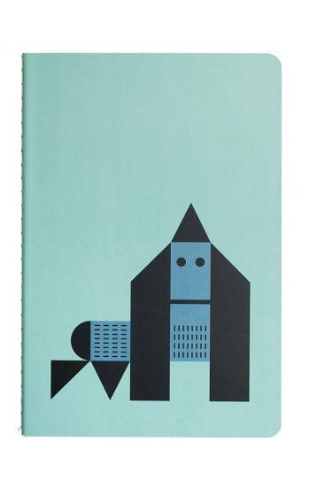 Notebook Whales & Gorilla