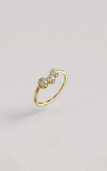 Ring Pressed 3 Stones