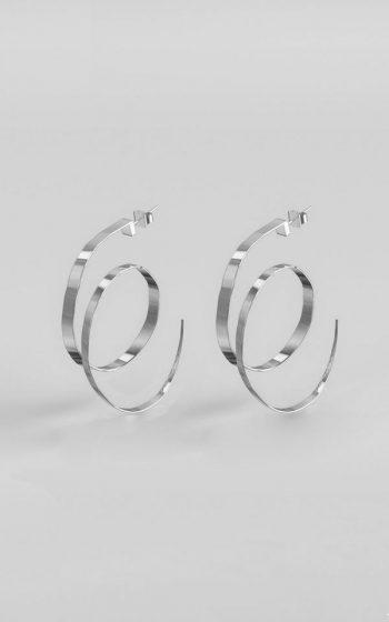 Earrings Hammered M