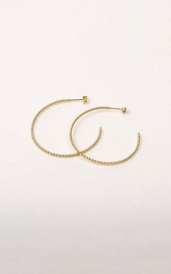 Earrings Circles Flat Pearl
