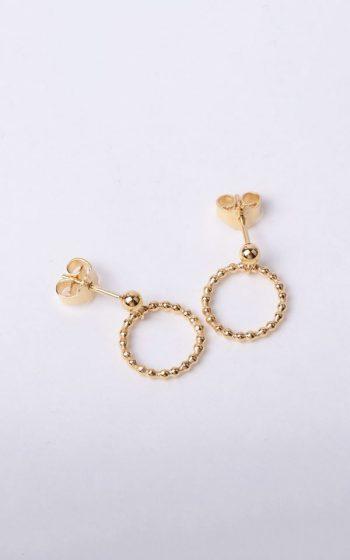 Earrings Circles Pearl