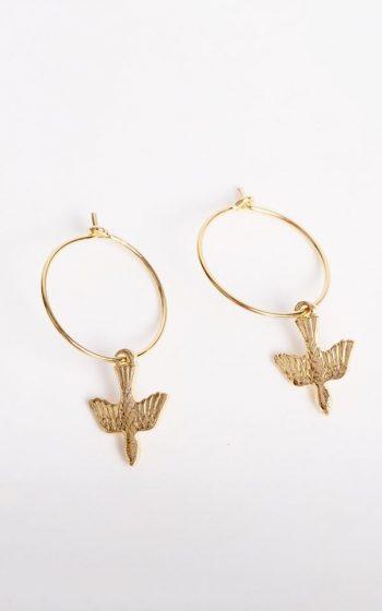 Earrings Bird Hoops