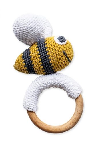 Crochet Toy Bee With Ring