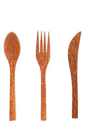 Cutlery Set Palm Wood