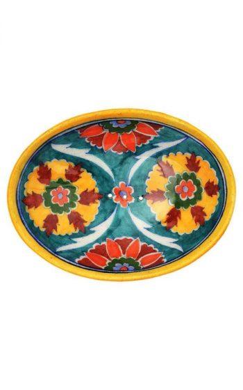 Soap Dish Blue Pottery