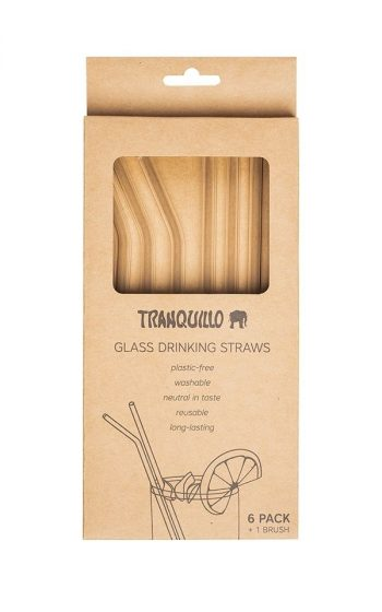 Straws Glass Set of 6 - Colorless