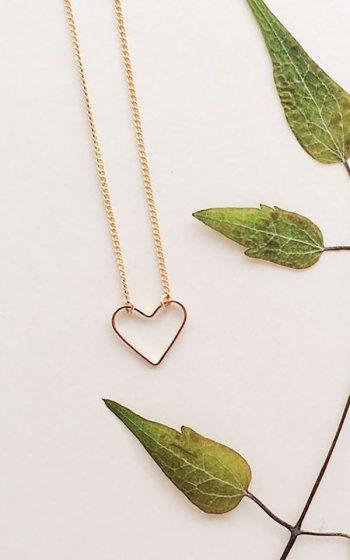 Necklace Open Heart