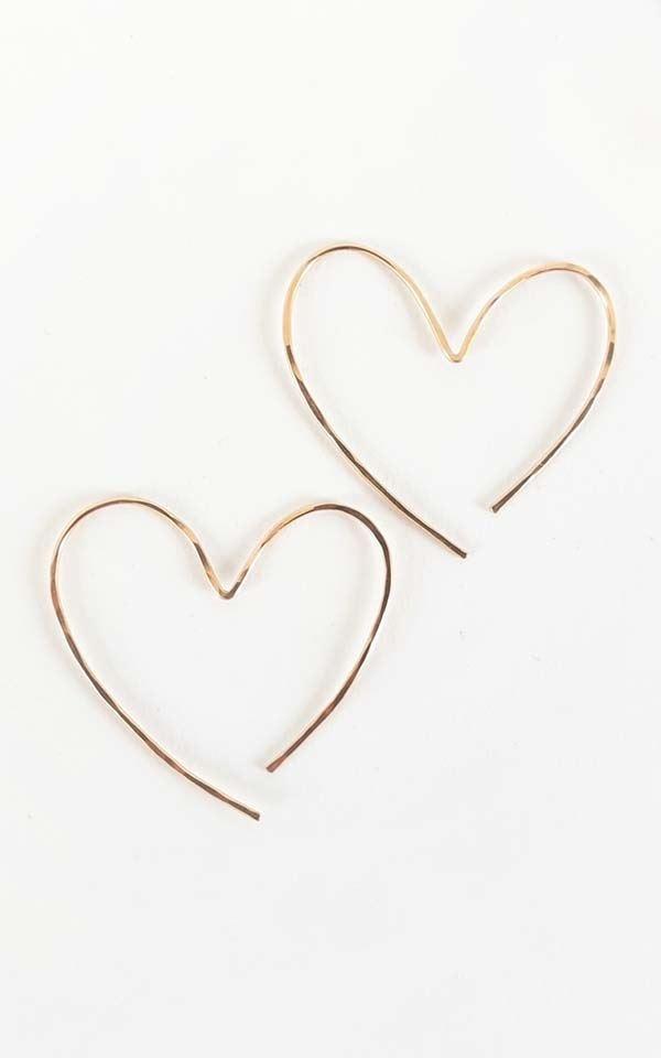 Earrings Heart from Het Faire Oosten
