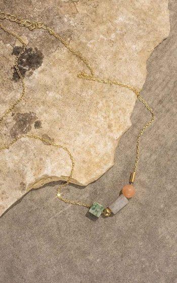 Necklace Geo Beads
