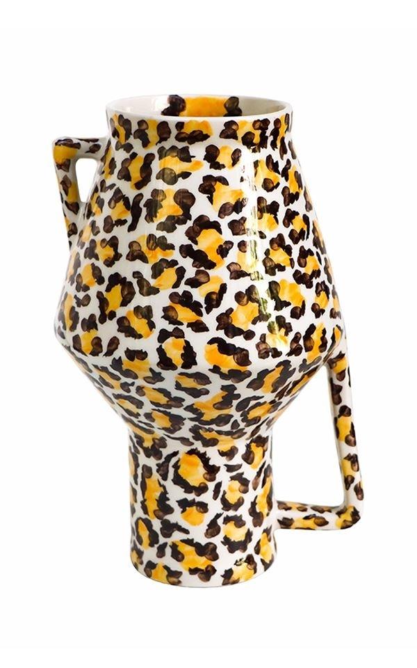 Vase Handpainted Leopard M from Het Faire Oosten
