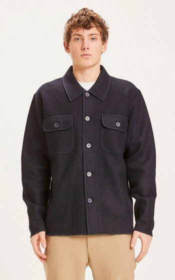 Overshirt Pine Boiled Wool
